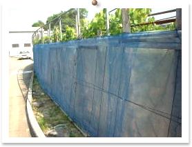 ブドウ棚のサイド部分の防鳥ネット